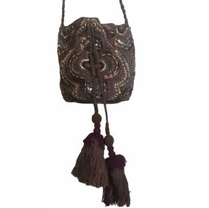 WHBM Beaded Bucket Bag